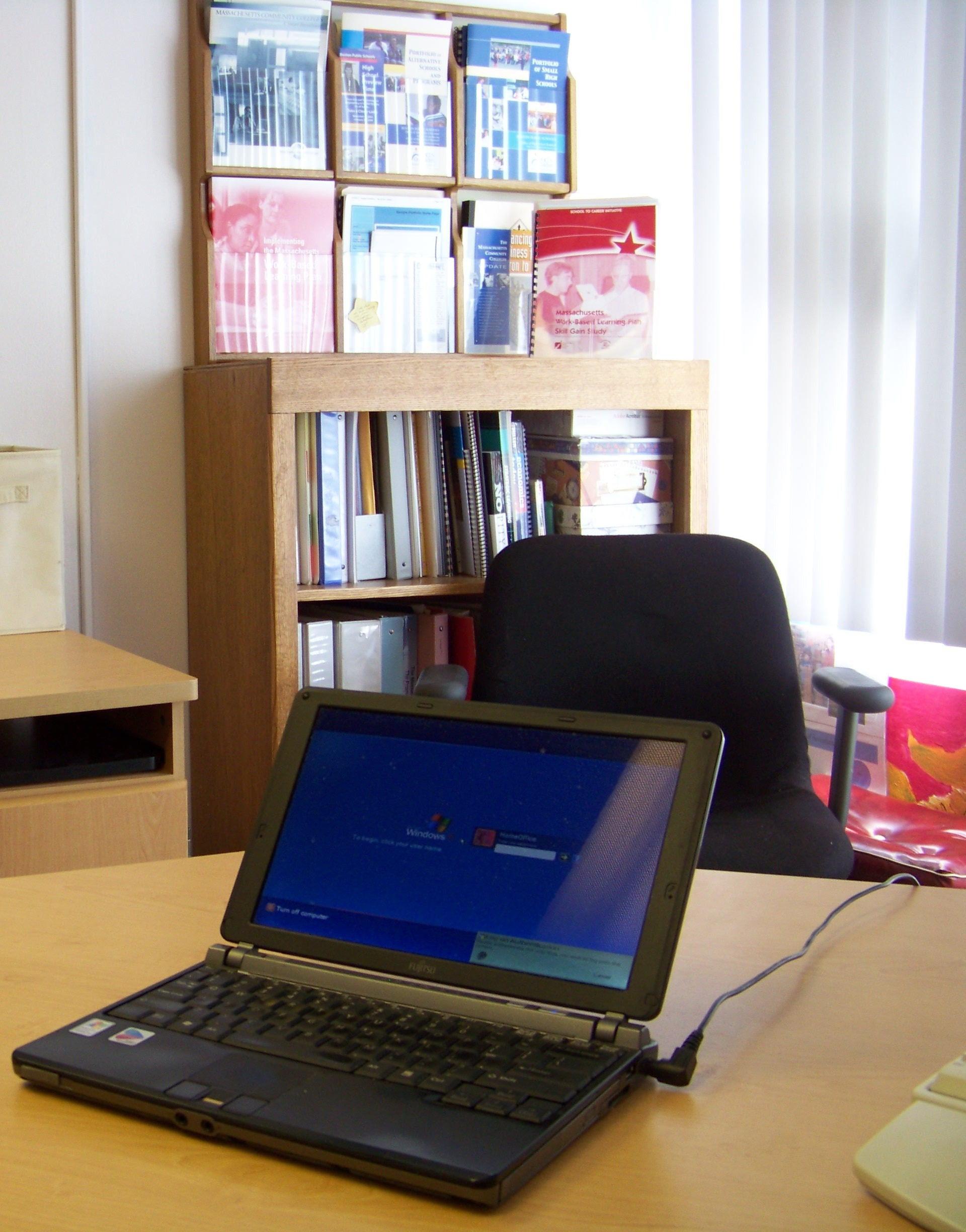 Office photo with computer